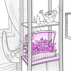 """Светодиодная яркая фитолампа для рассады с ножками """"Гакрукс"""""""